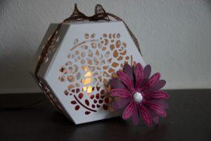 Windlicht mit Gänseblümchen (1) (Medium)