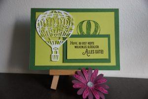 Wolkenlos Glücklich und Heißluftballon (5) (Medium)