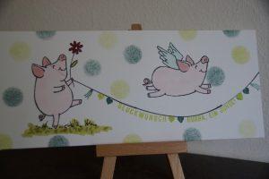 Babykarte-Glücksschweinchen (2) (Medium)